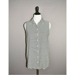 CHICO'S NEW Effortless Sleek Stripe Sina II Shirt